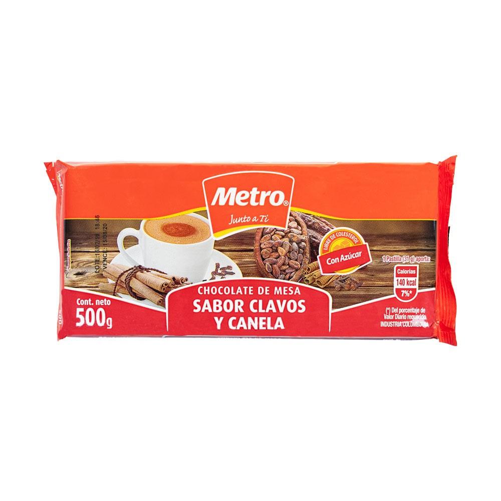 Chocolate Clavos Y Canela Metro *50