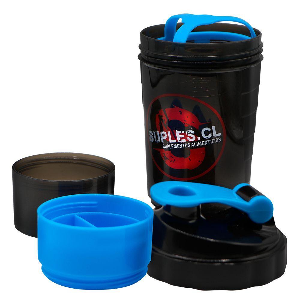 Shaker 3x1 color Azul Capacidad 600ml