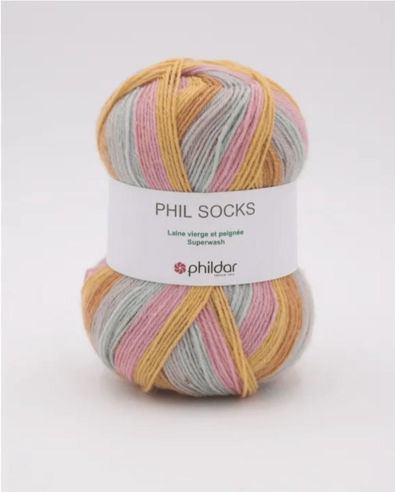 Lana 85% superwash socks p2,5 NYMPHEA