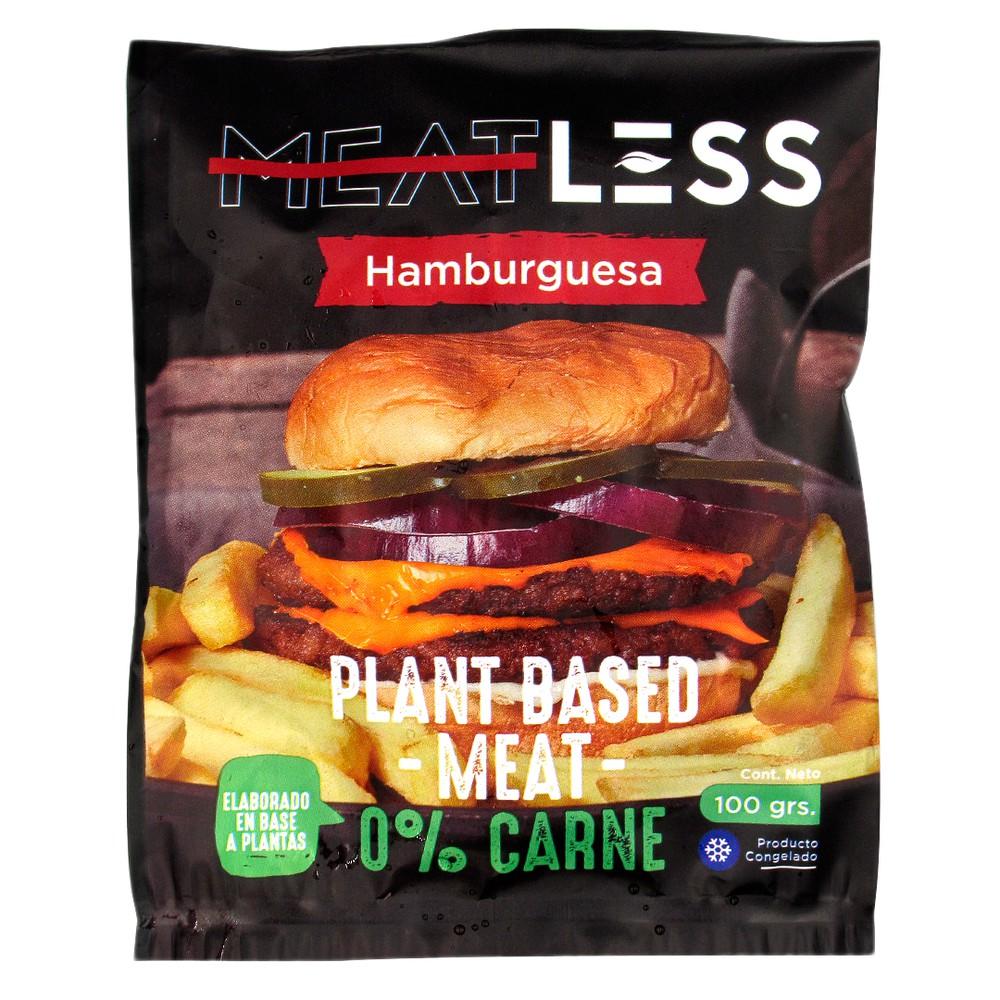 Hamburguesa vegana a base de plantas