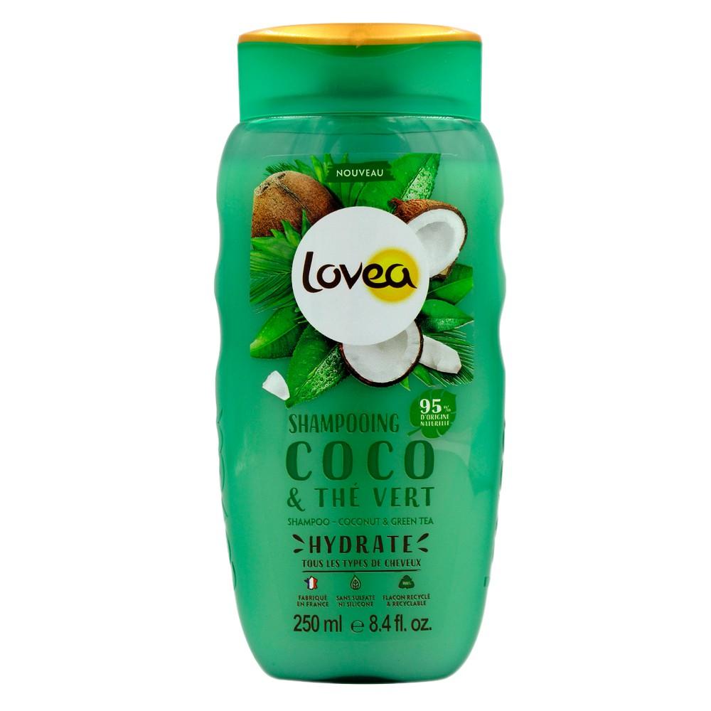 Shampoo coco y te verde, sin silicona, todo cabello Envase 250 ml
