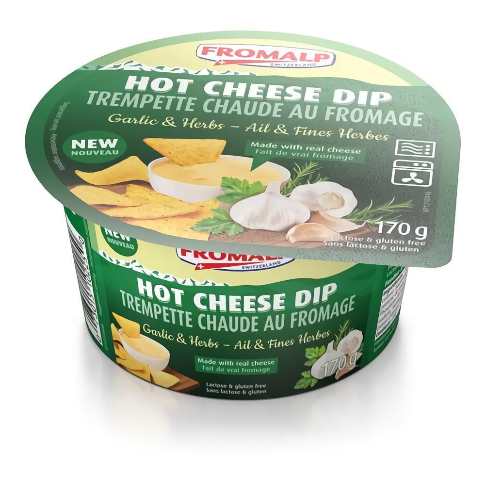 Hot cheese dip garlic & herbs