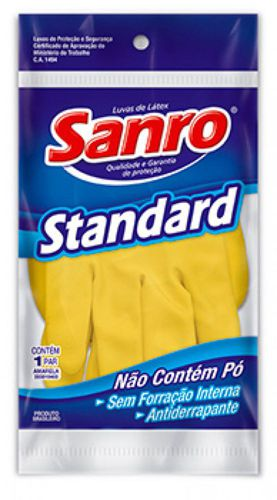 Luva de latex top amarela