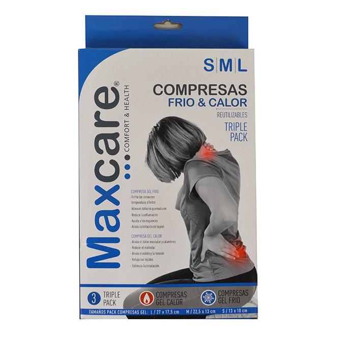 Compresa gel frio calor pequeña-mediana-grande pack 3 un 19 x 30 x 3.5 cm