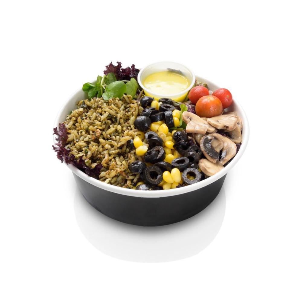Ensalada arroz pesto Porción individual