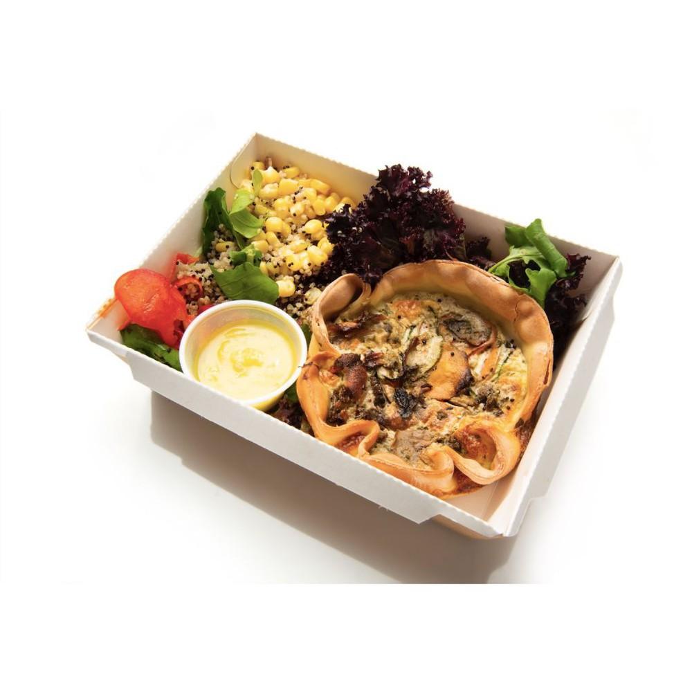 Quiche vegetariano & ensalada Porción individual