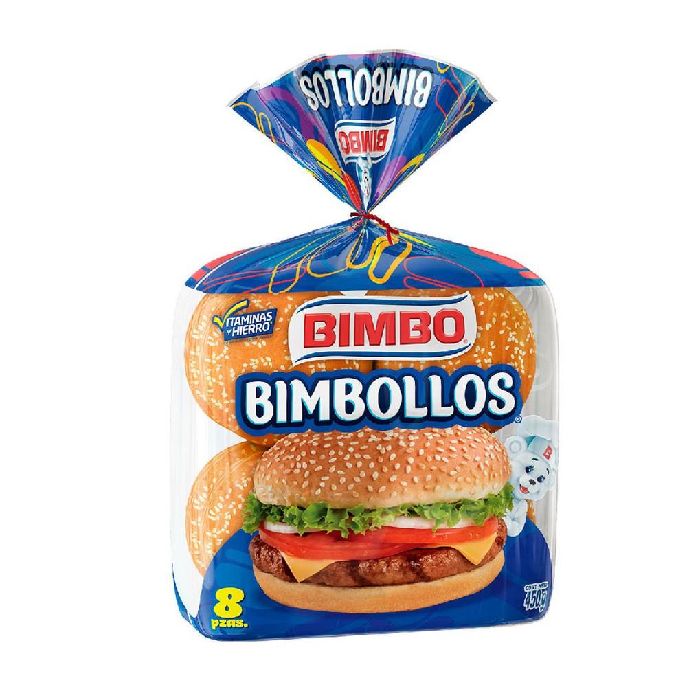 Pan para hamburguesa bimbollos 8 pzas