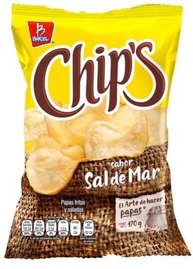 Papas Chips sabor sal de mar
