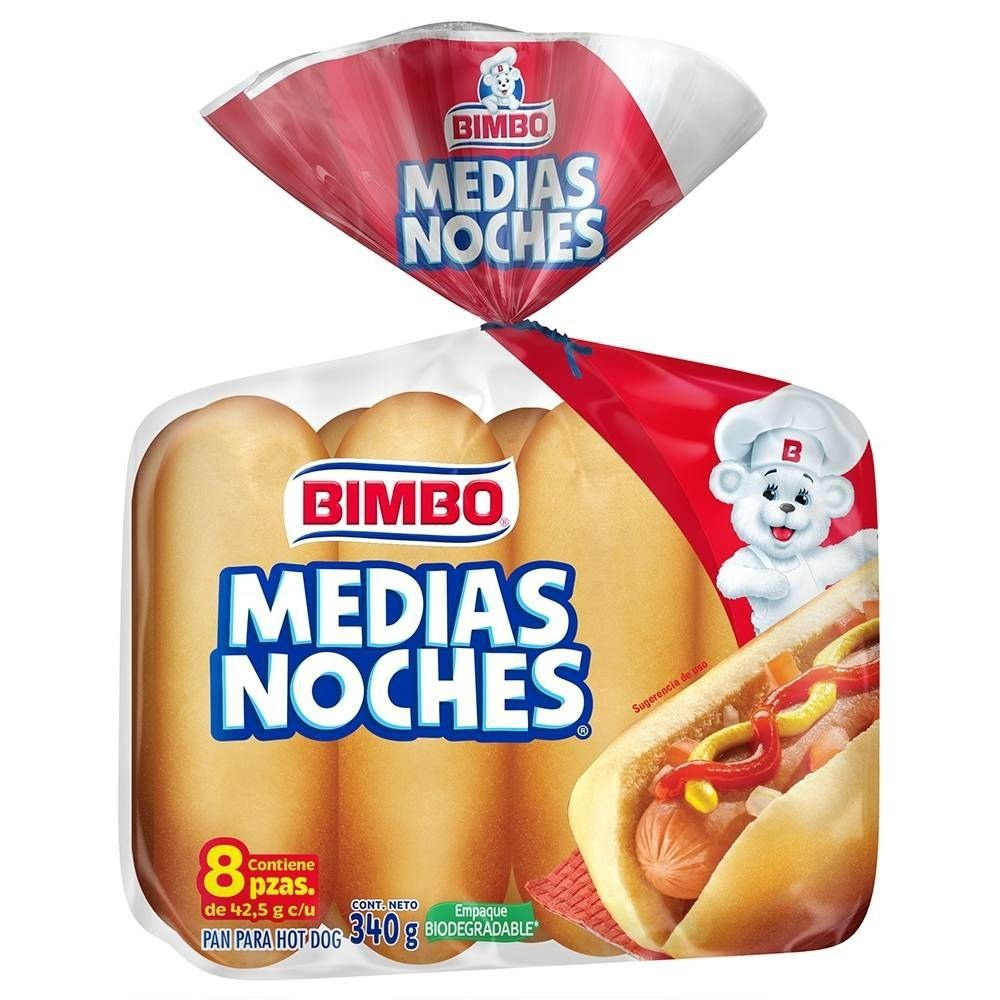 Pan para hot dog medias noches