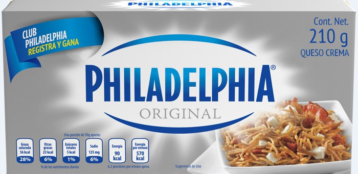Queso crema philadelphia original