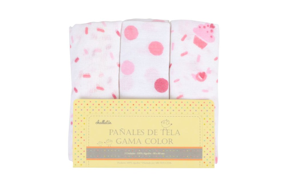 Pack pañales gama rosado