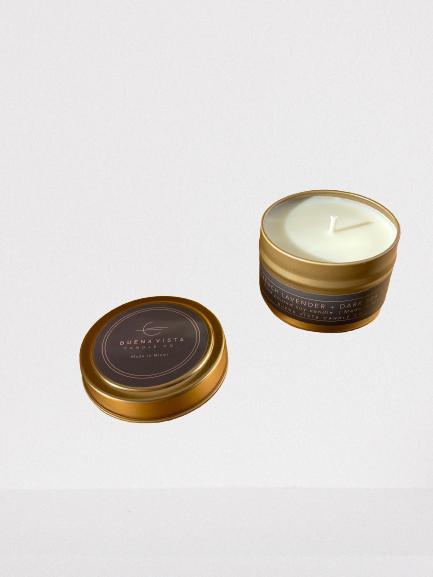 French lavender + Dark Sea Salt Gold Travel Tin 1 CT
