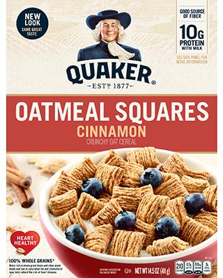Cereal Oatmeal Squares de avena con canela