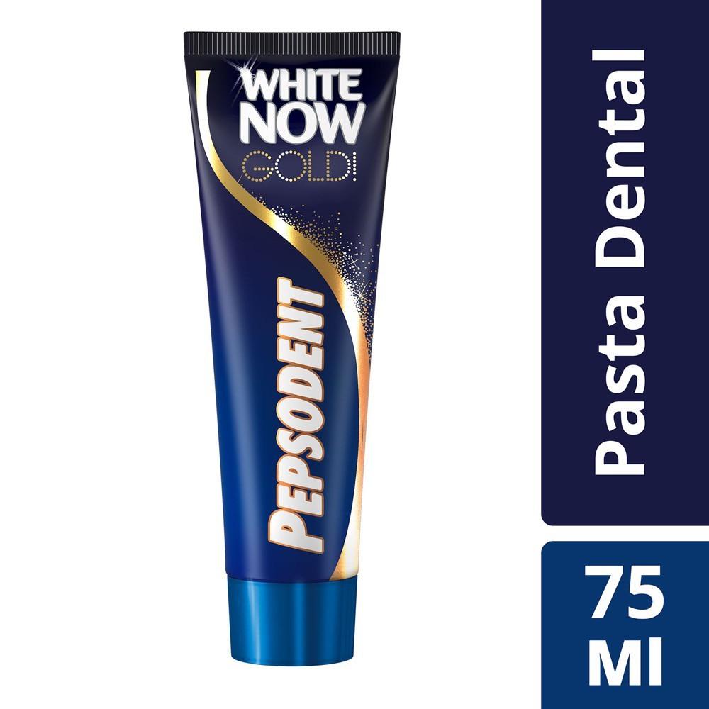 Pasta dental white now gold