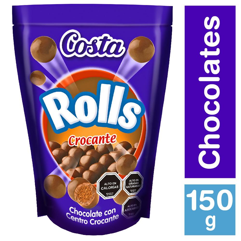 Chocolate rolls crocante