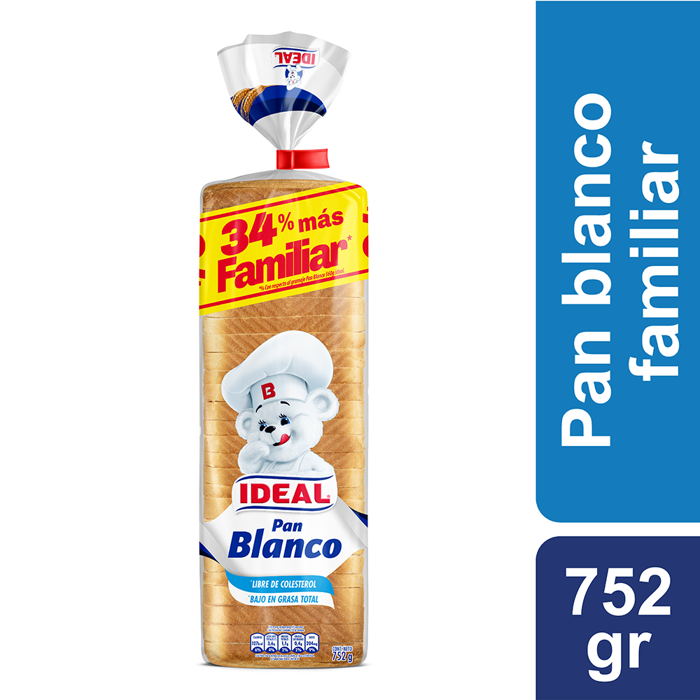 Pan blanco grande XL