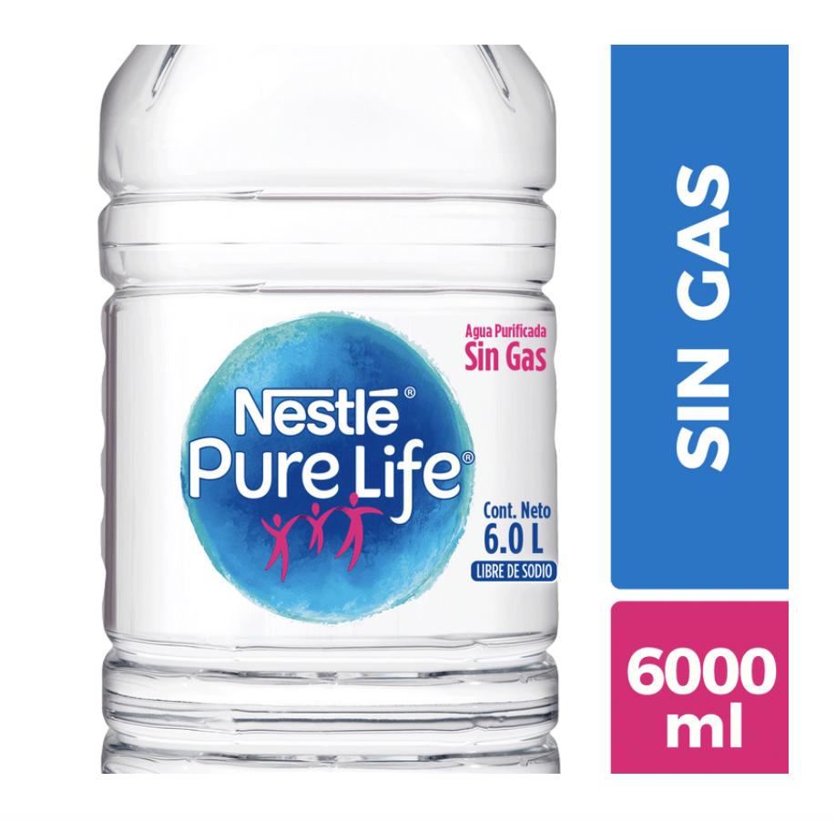 Agua purificada sin gas Bidón 6 l