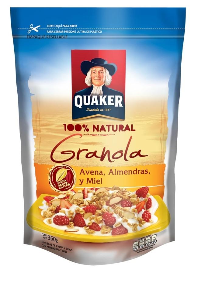 Granola con avena almendras y miel