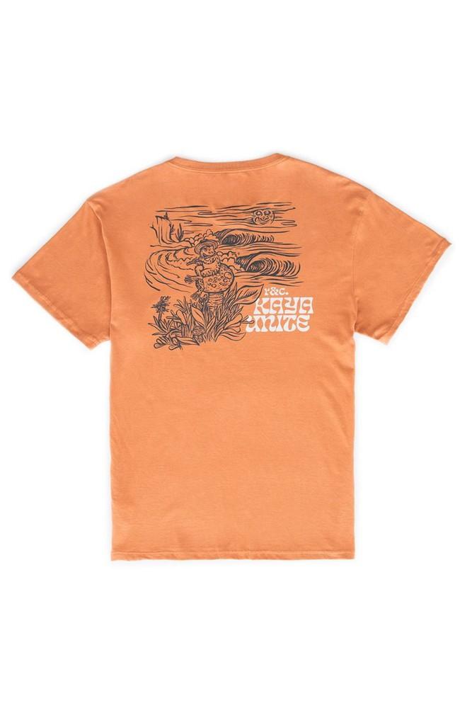 Tshirt frog damasco l Talla: L Color: Naranjo