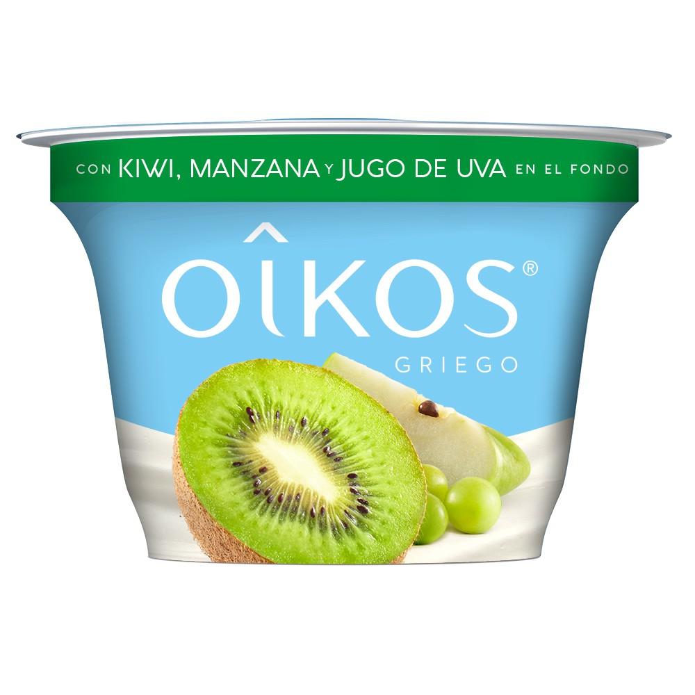 Yoghurt estilo griego con frutos verdes