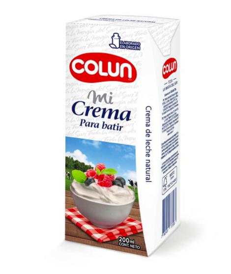 Crema para batir 200 ml