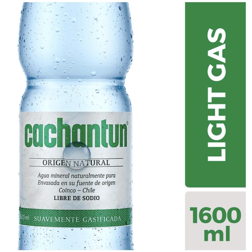 Agua mineral light gas