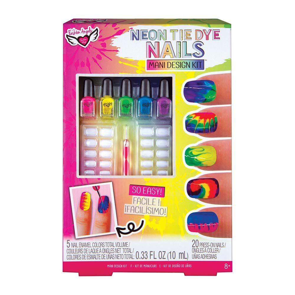 Set para pintar uñas tie dye Caja
