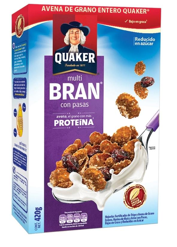 Cereal Multibran de avena con pasas