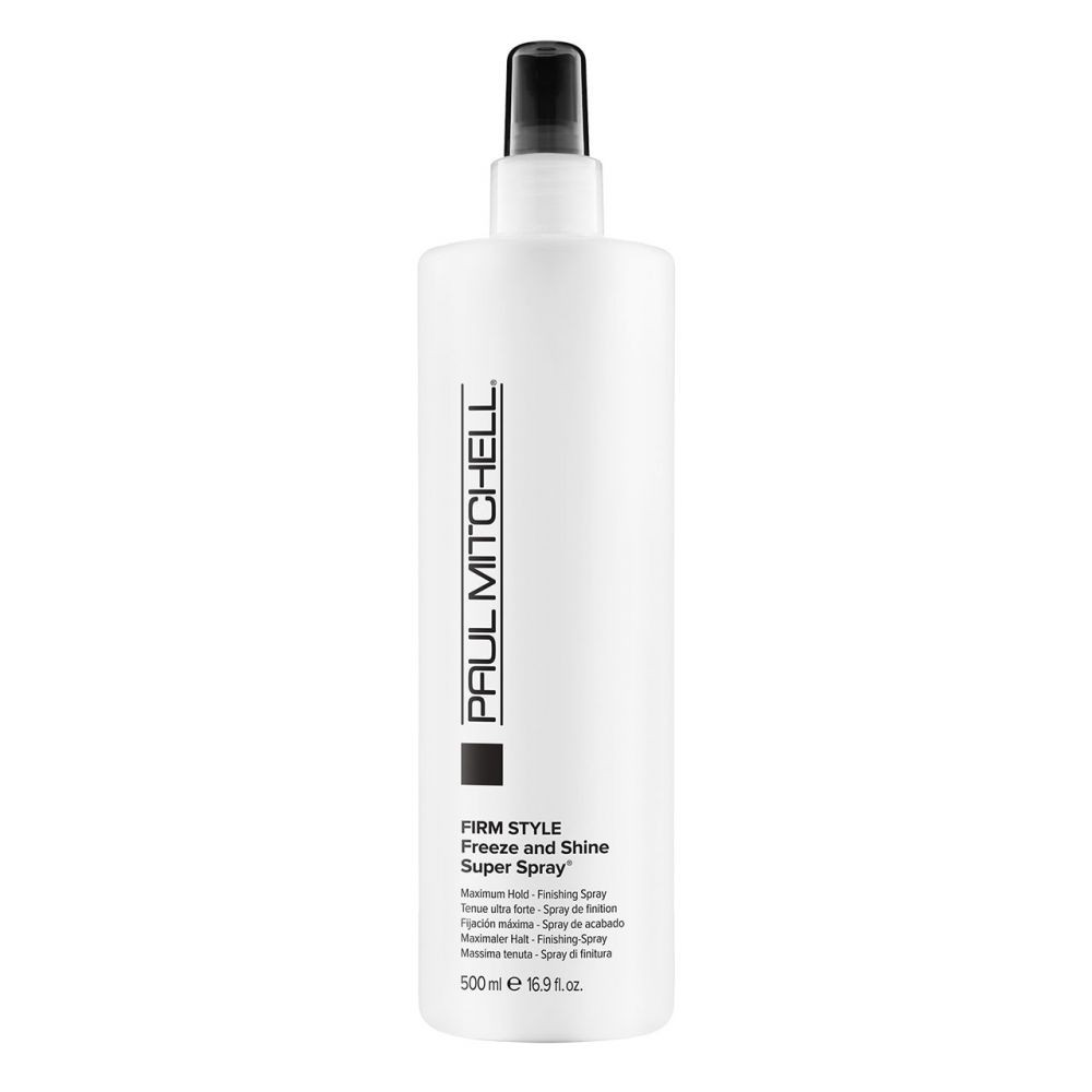 Firm style freeze and shine super spray