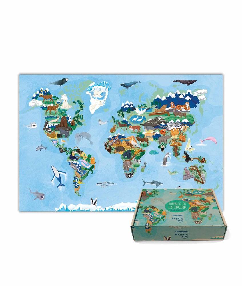 Puzzle animales en peligro de extinción - 300 piezas