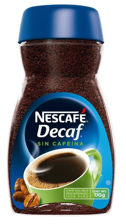 Café soluble descafeinado