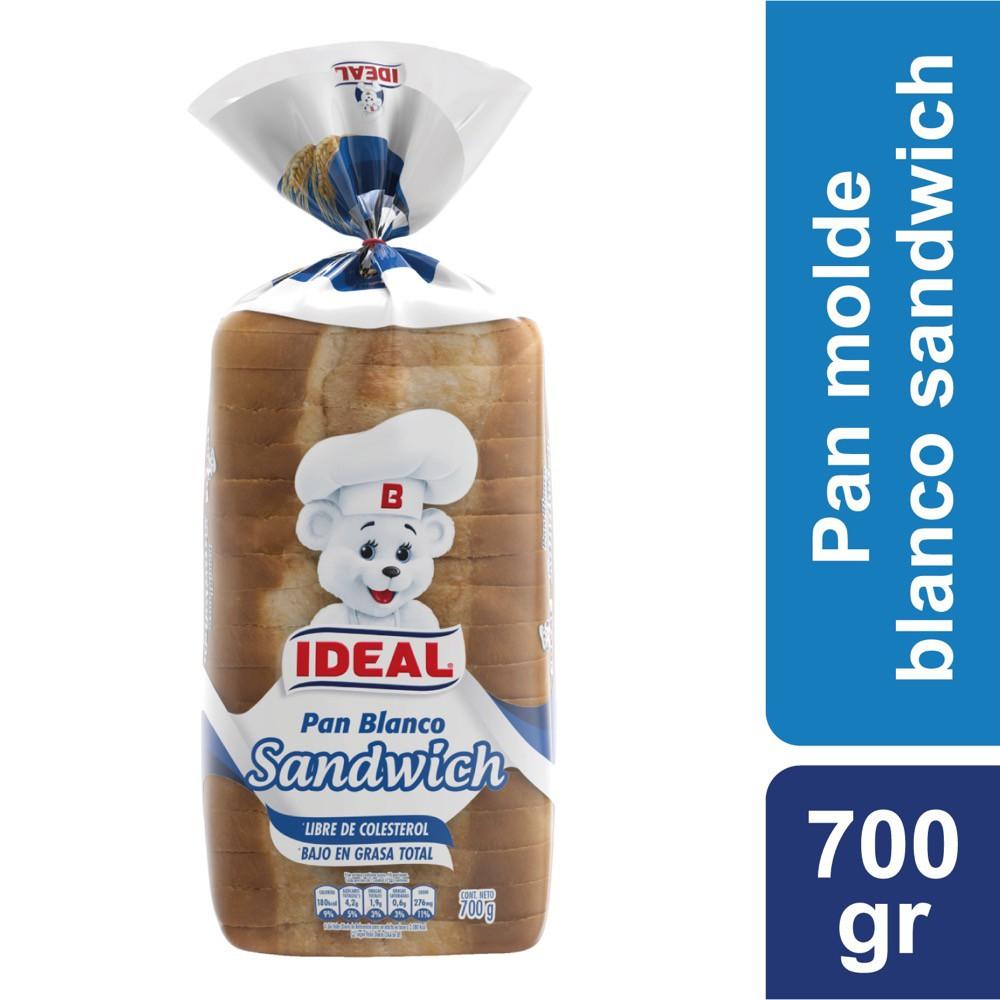 Pan de molde blanco sándwich