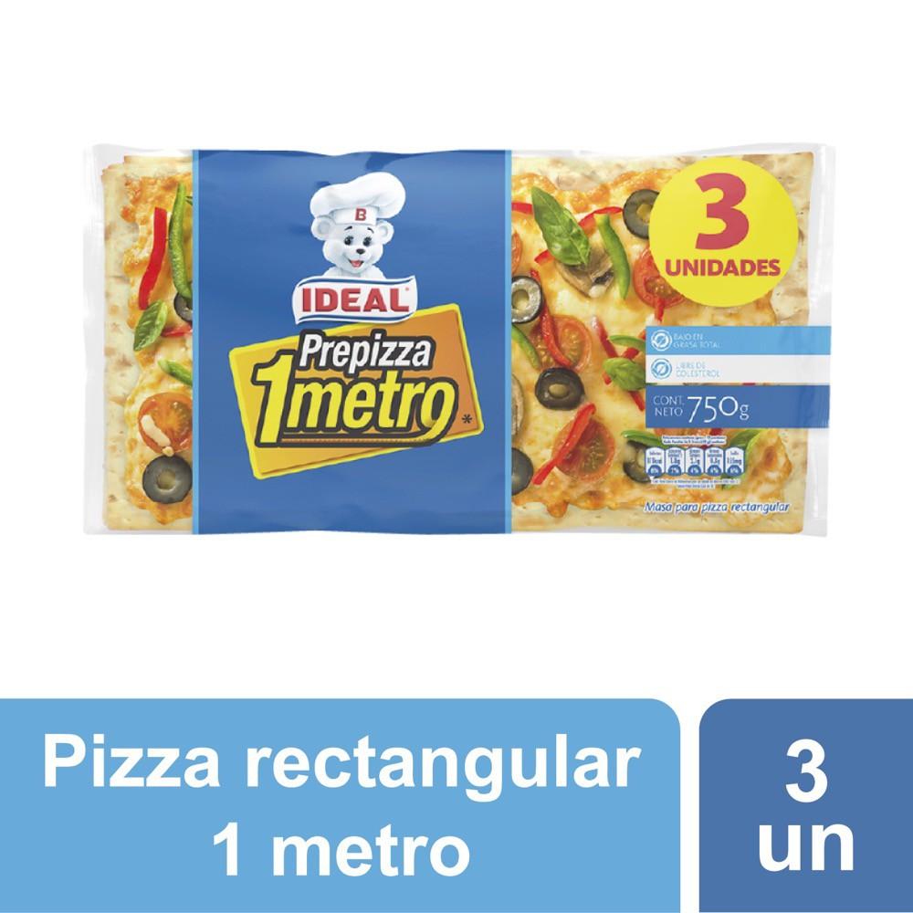 Prepizza masa rectangular 1 metro