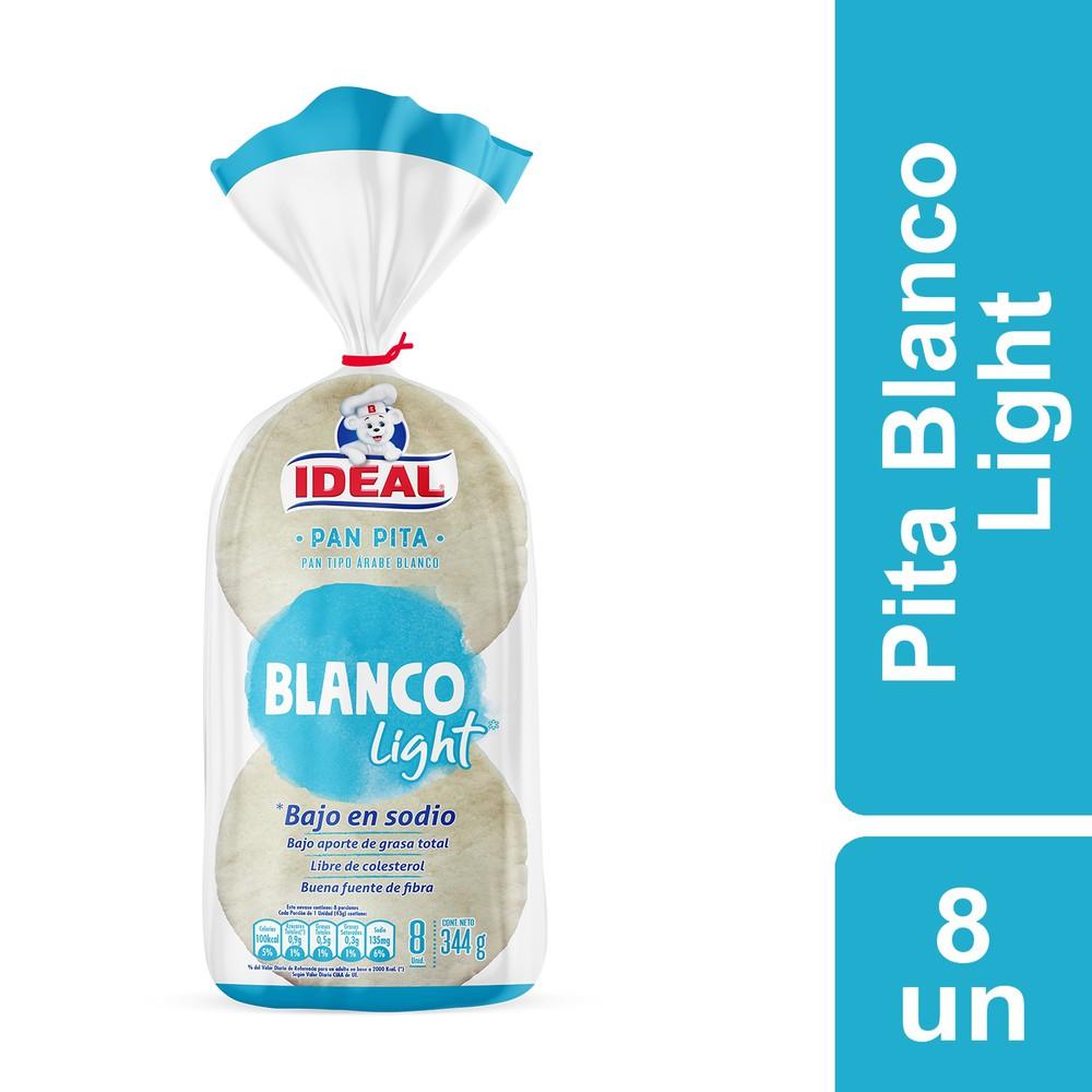 Pan pita light blanco