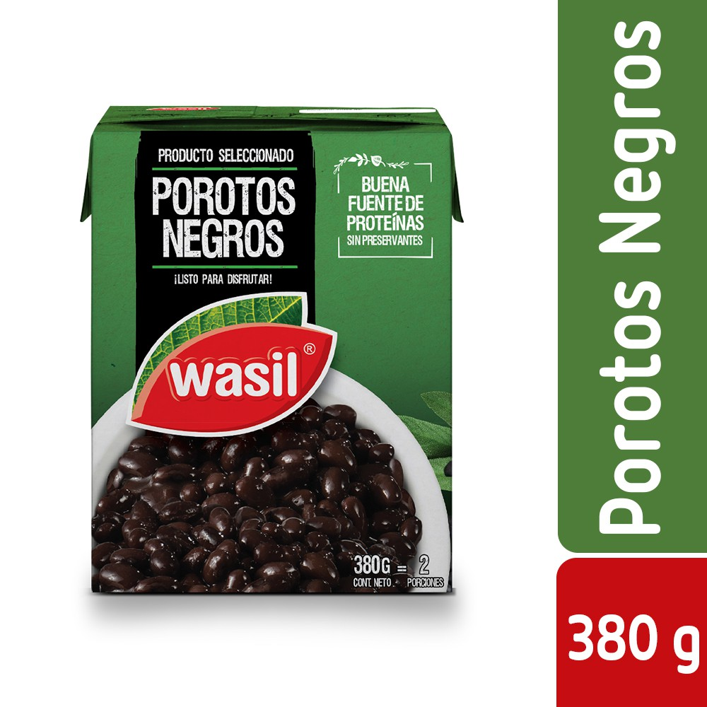 Porotos negros Caja 380 g