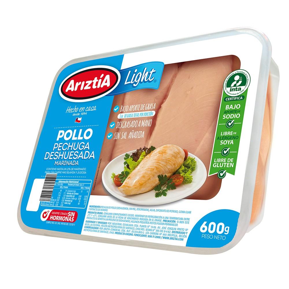 Pechuga de pollo deshuesada marinada