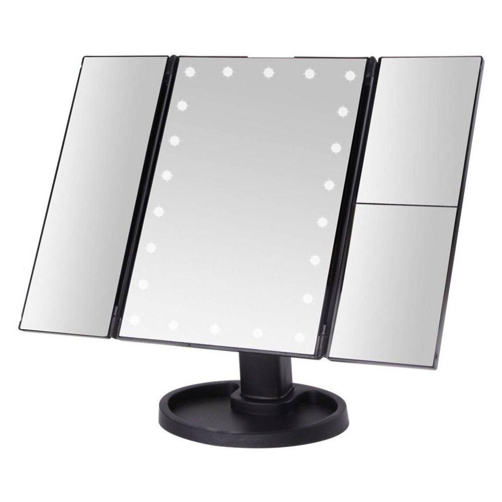 Espejo pedestal con luz led