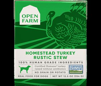 Homestead turkey rustic stew dog food -