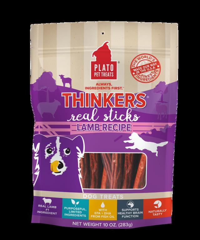 Thinkers singles lamb stick dog treat -