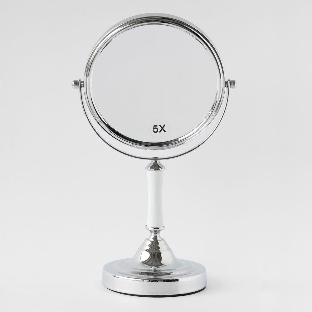 Espejo pedestal con aumento 5x y normal