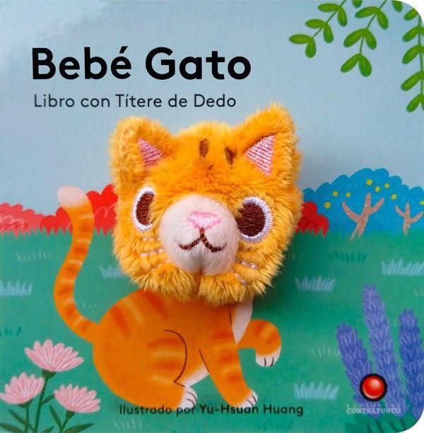 Bebé Gato - libro con títere 11x11 cm