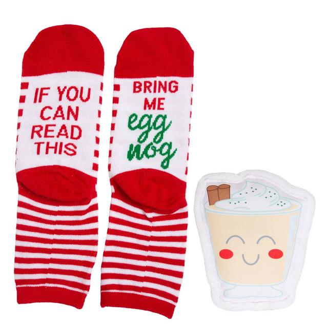 Owner/pet gift set - egg nog -