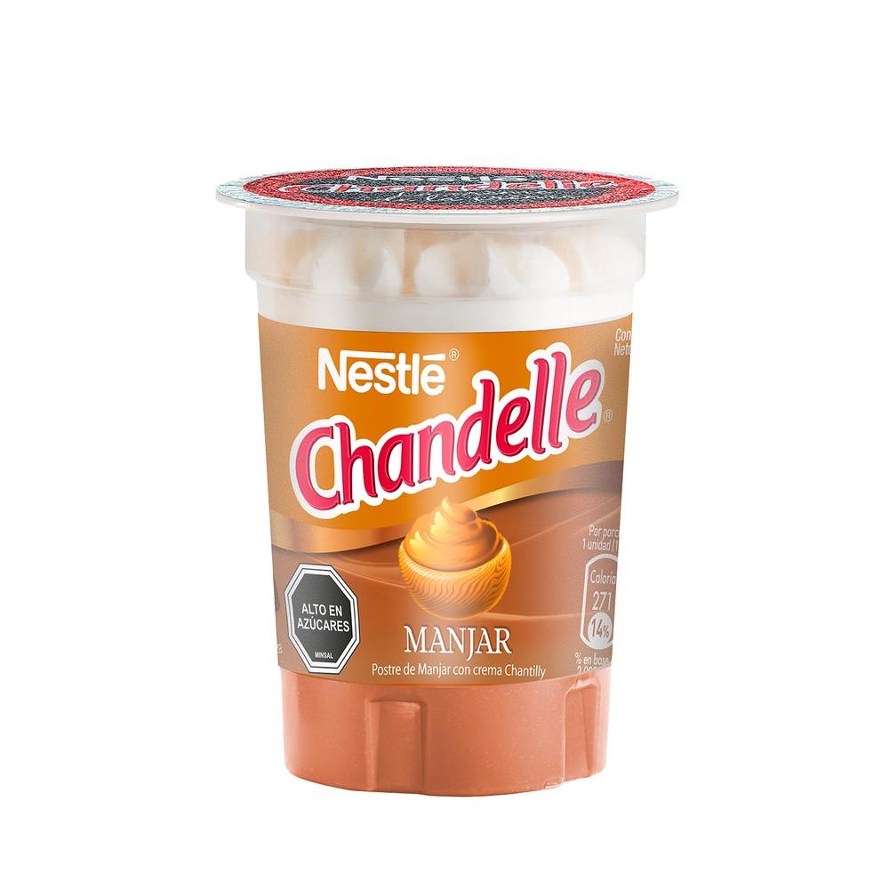 Postre de crema Chandelle sabor manjar