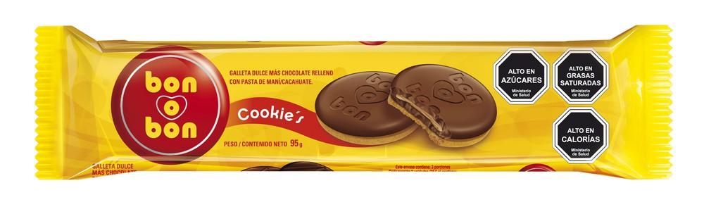 Galletas rellena de chocolate