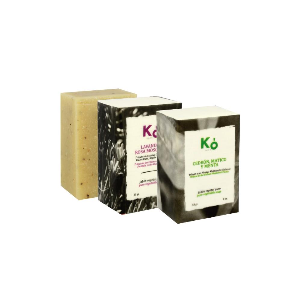 Trilogía de jabones aromáticos 55 g. 3 unidades