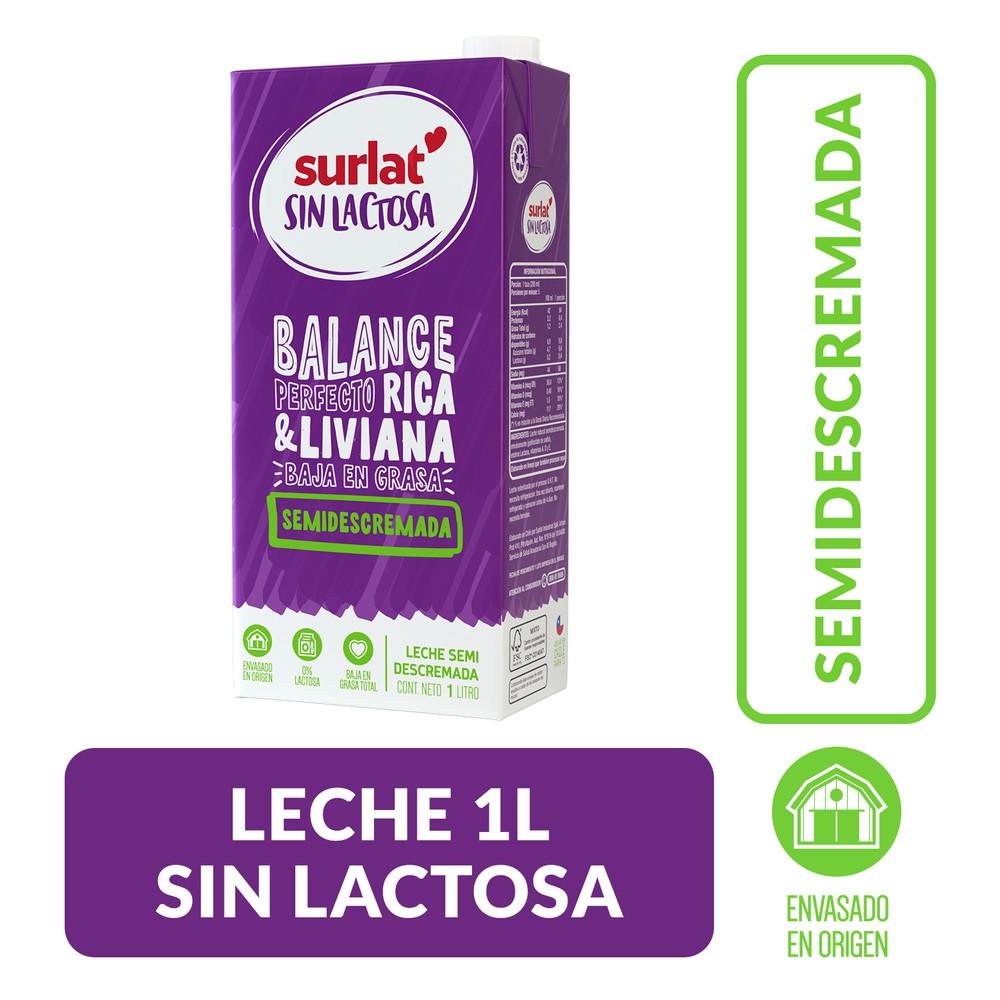 Leche semidescremada sin lactosa
