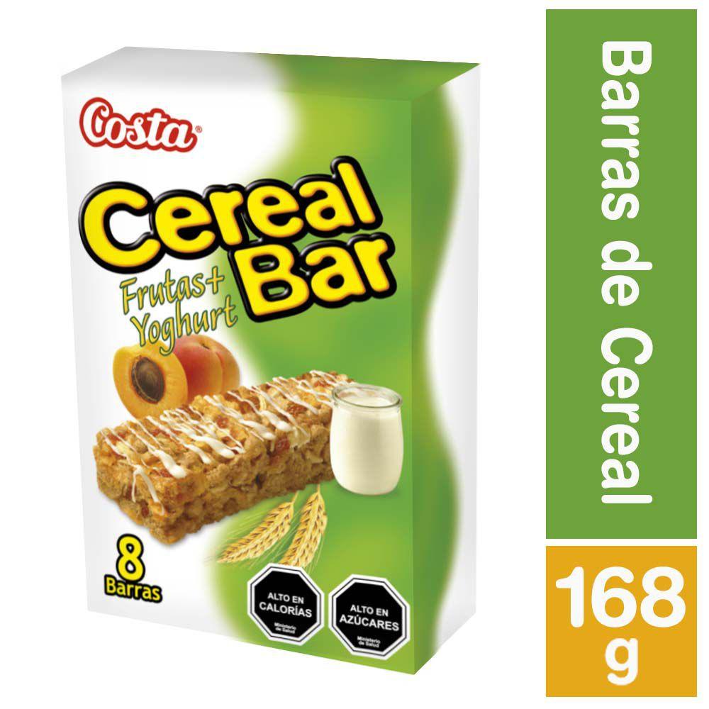 Barra de cereal sabor frutas + yogur