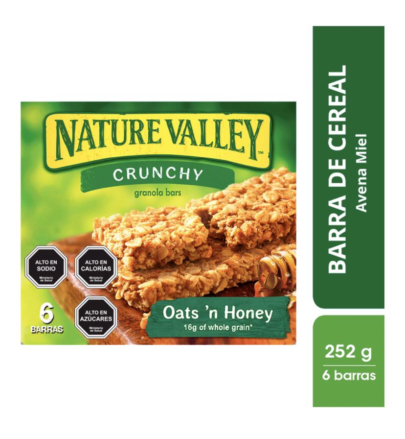 Barra de cereal crunchy avena y miel