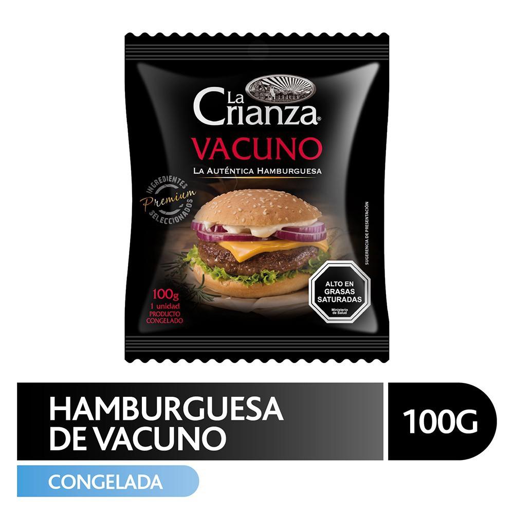 Hamburguesa de vacuno 100 g