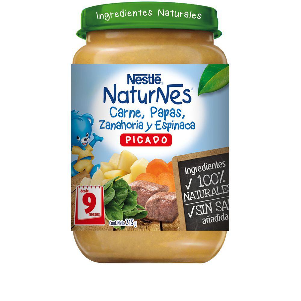Picado NaturNes carne, papas, zanahoria y espinacas